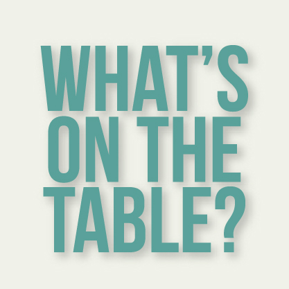 What's on the table? Recipes.